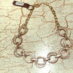 J.Crew Gold Cryatal link necklace